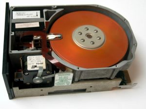 An internal hard drive.