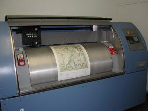 high speed drum scanner for half-tones.
