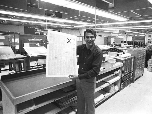 Printing pre-press room.